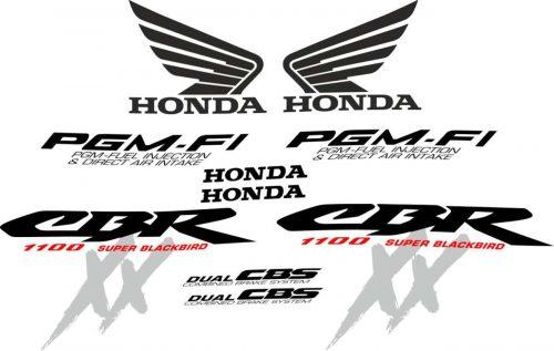 CBR 1100 XX 2002 replacement decals stickers kit set pattern emblems aufkleber