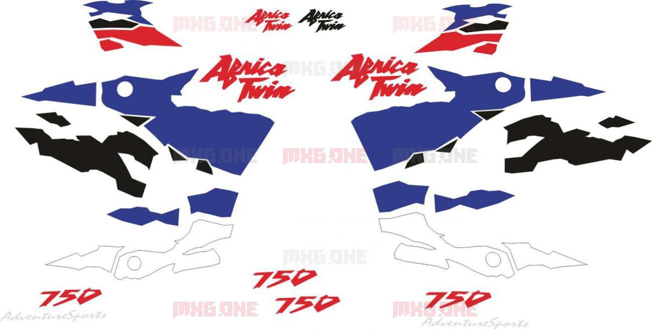 Honda Xrv 750 1996 2002 Africa Twin Stickers Set Mxg One Best Moto Decals