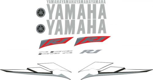 Stickers Decals Compatibile Yamaha YZF-R1 2000 Rosso Misura Originale